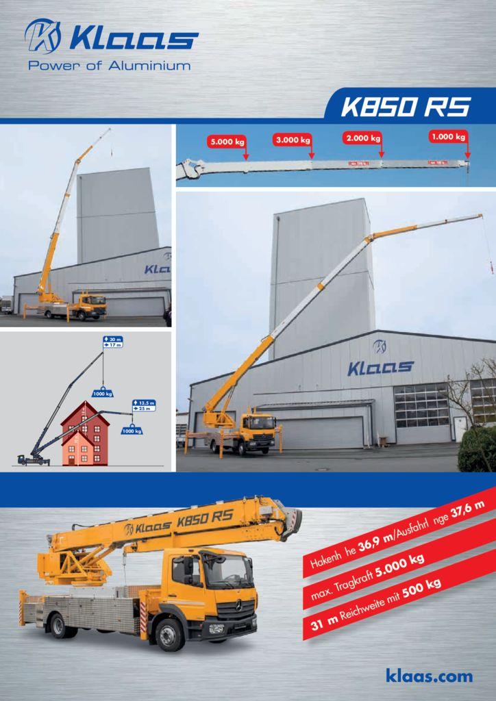 thumbnail of Produktblatt-K850RS