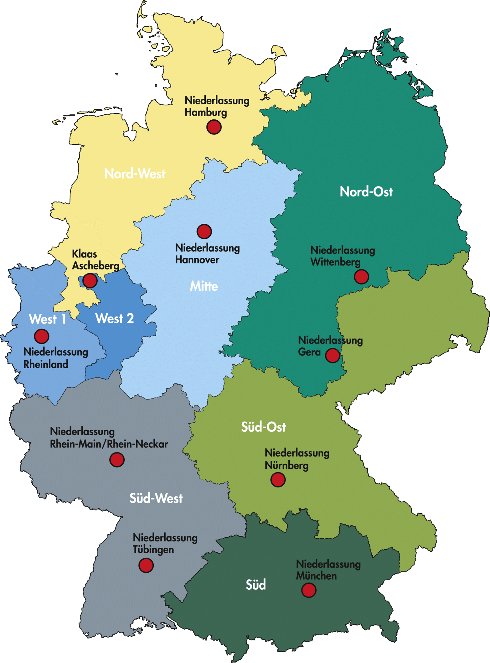 Servicenetz Deutschlandkarte